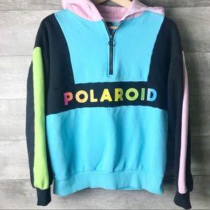 Polaroid color block pullover hoodie sweater